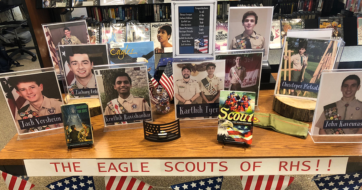 School's display honors Eagle Scout students, inspires others