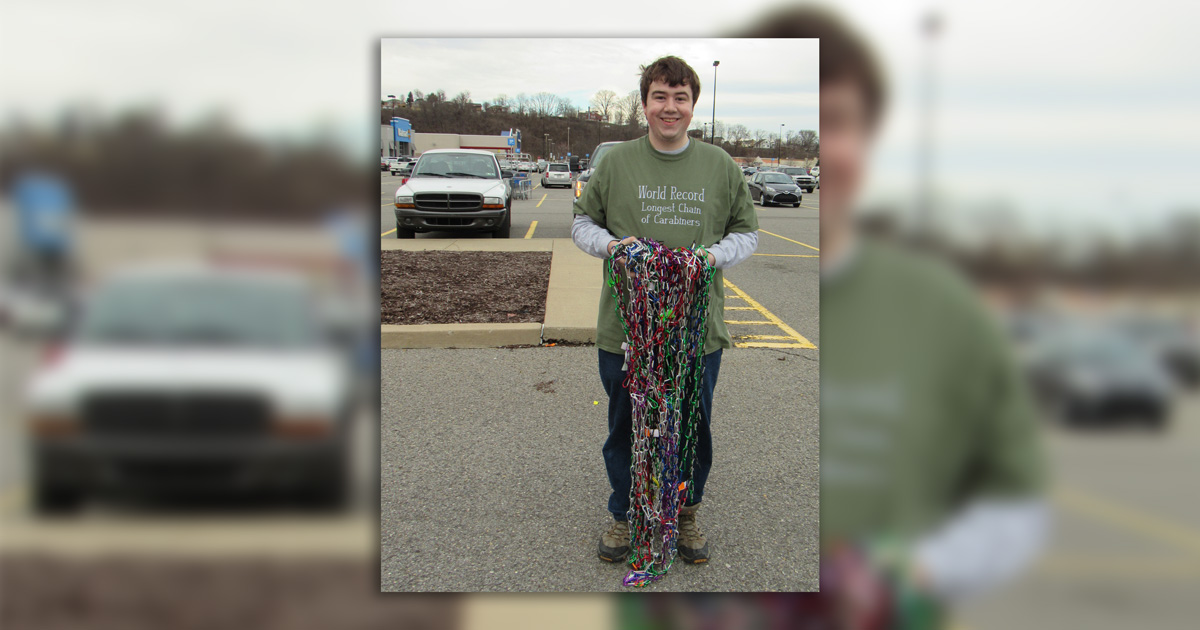 Eagle Scout owns Guinness World Record for longest chain of carabiners