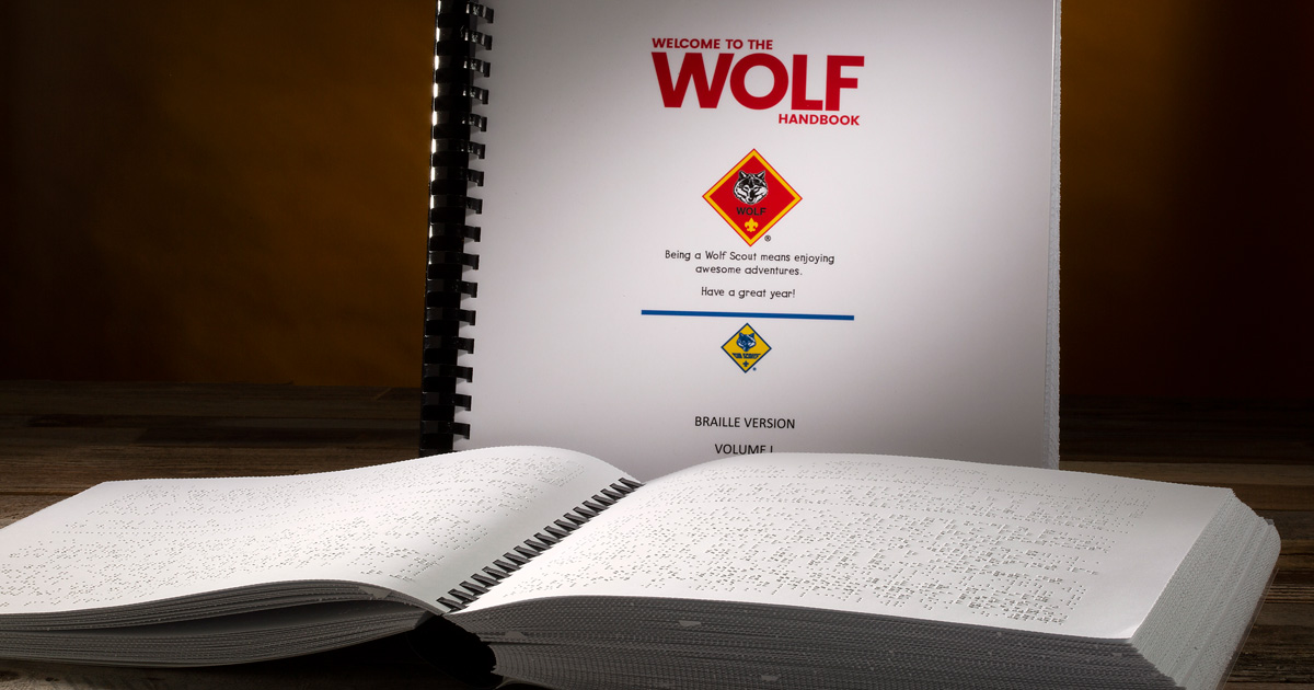 Cub Scout handbooks are now available in Braille versions