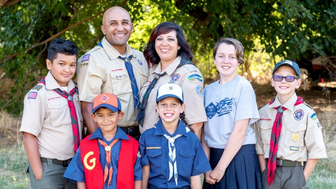 Blended family was brought together through Scouting