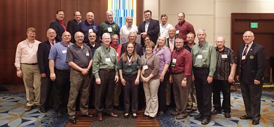Members of the Summit Bechtel Reserve Staff Association pose at the 2015 National Annual Meeting