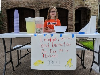 Ashley at her lemonade stand.