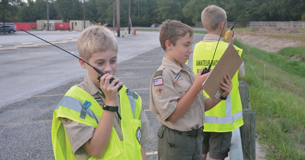 Assistant Scoutmasters help Scouts get trained to be amateur radio operators