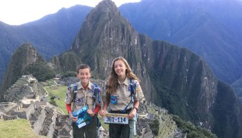 Alex and Charlotte at Machu Picchu
