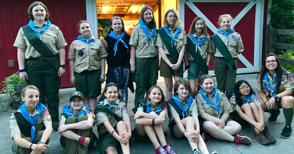 Troop 5109's first court of honor.