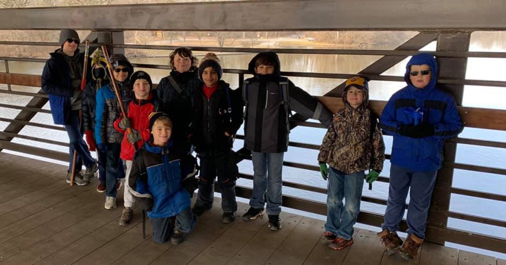Pack 1855 Cub Scouts pose for the camera