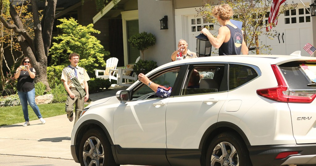Friends, family congratulate new Eagle Scout with a surprise parade