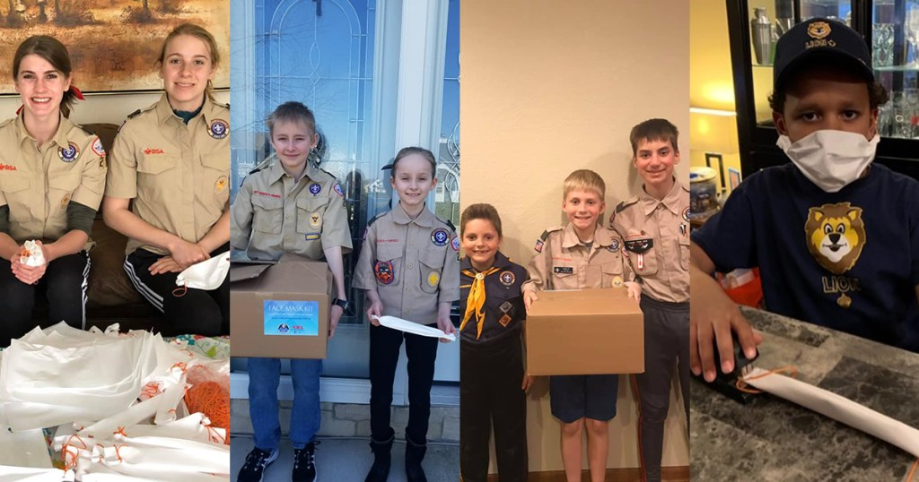 Scouts from Troop 218G, Troop 218B and Pack 251