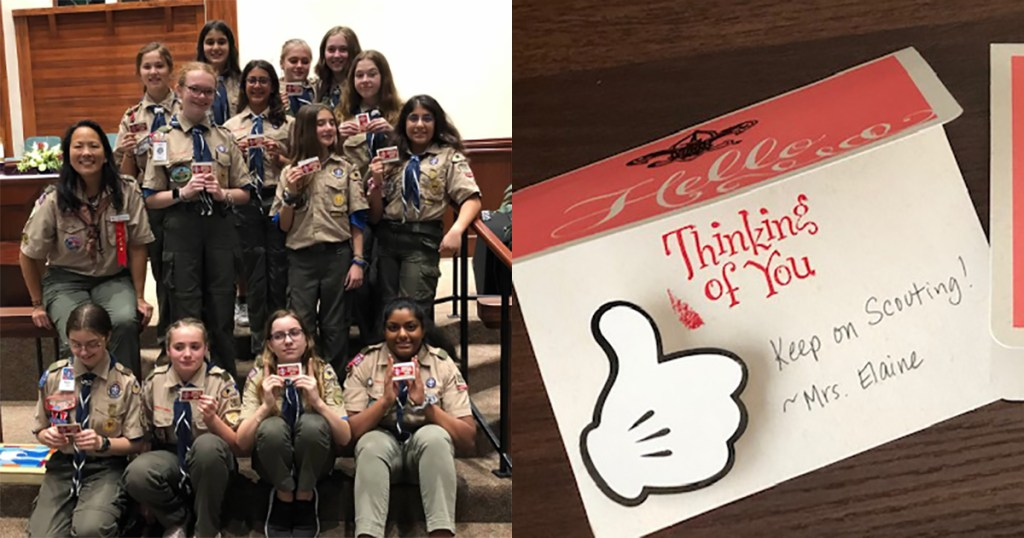 Scoutmaster finds refreshingly analog way to reach out to her Scouts