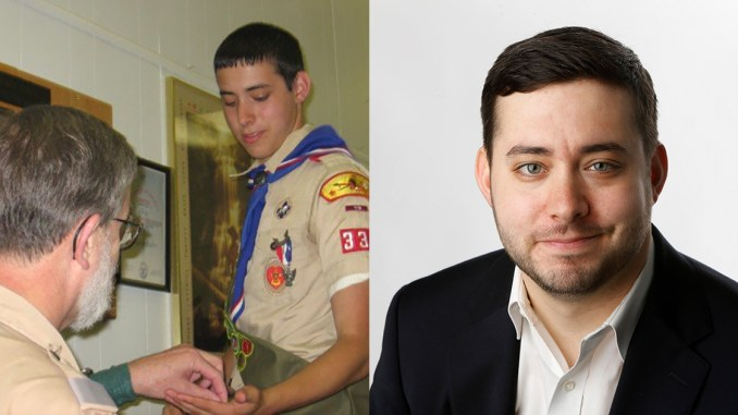 Brian Rosenthal as a Scout and today