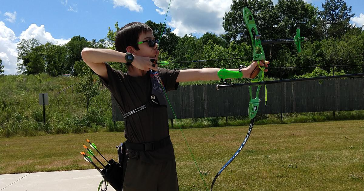Jasper has gotten into competitive archery.