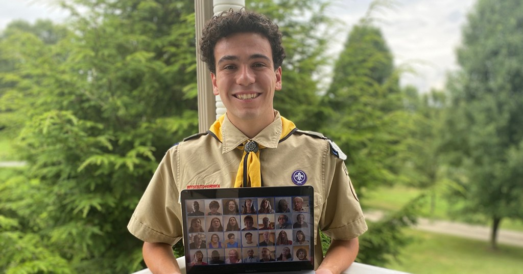 Saving Grace: Scout creates inspirational worship videos for Eagle project