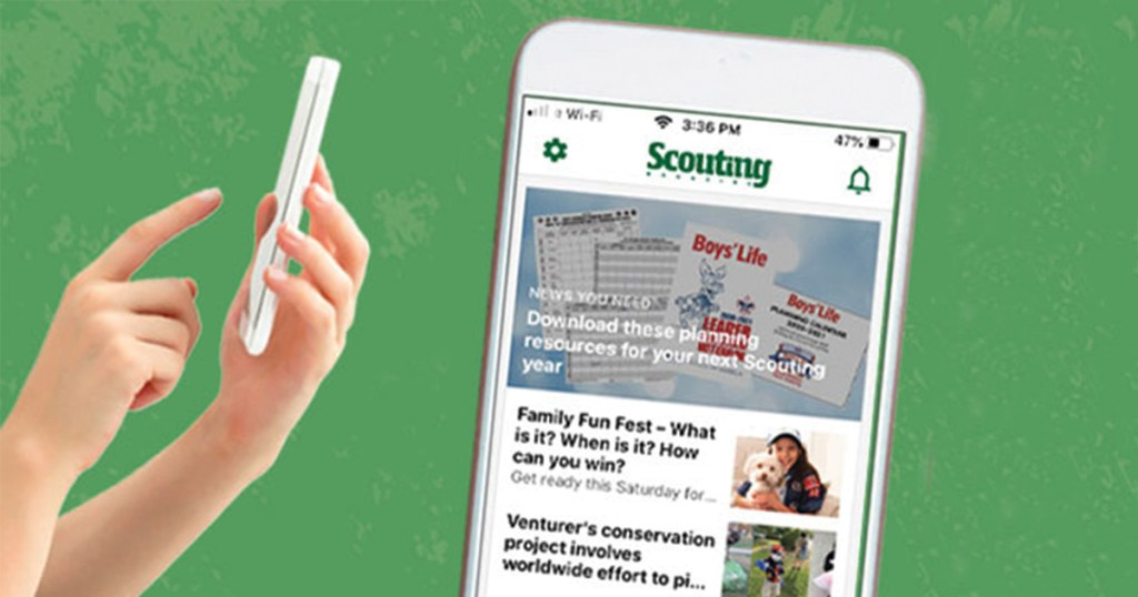 Get the latest in Scouting news through the new, improved magazine app