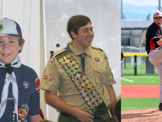 Jason as a Cub Scout, Scout and pitcher