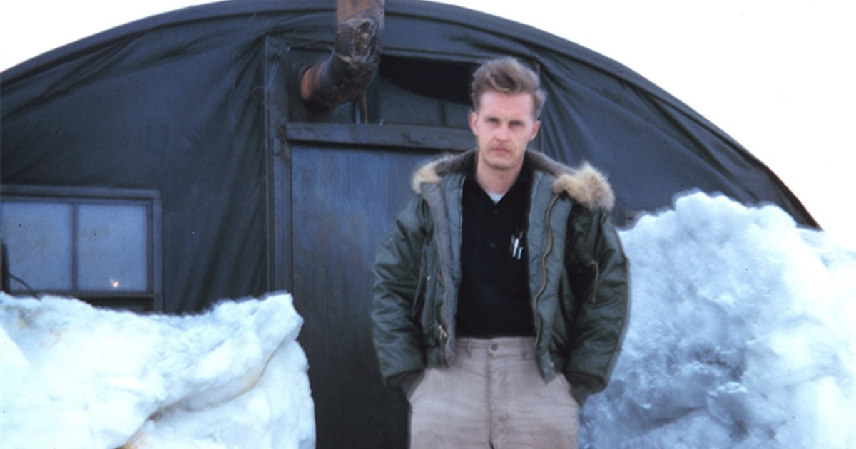 Harley Nygren on Alaska's North Slope in 1950.