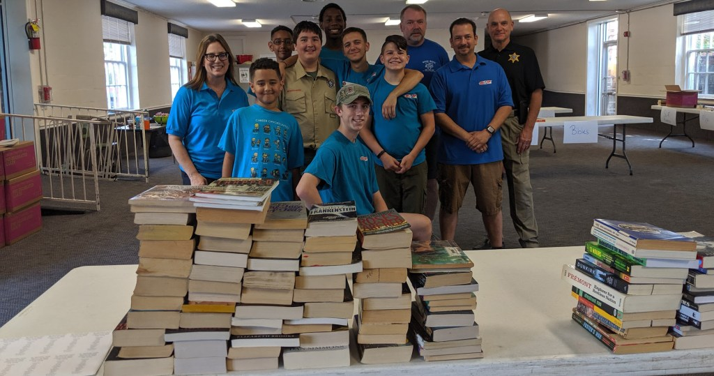 A novel Eagle Scout project idea: He collected books to send to inmates