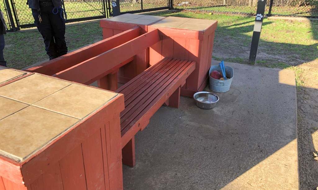 Benches at Allen Animal Shelter
