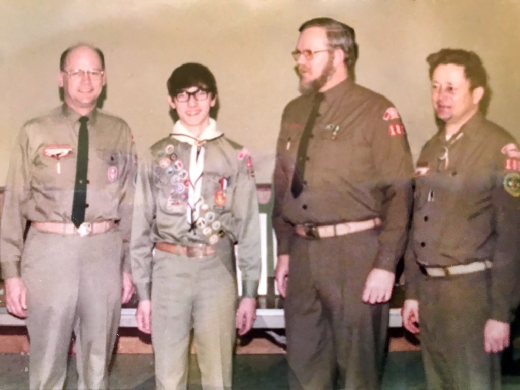 Paul Dye at his Eagle Scout court of honor in 1973.
