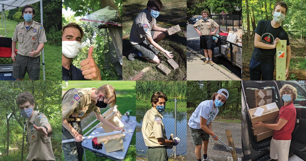 Ten Pennsylvania Scouts complete Eagle projects during the pandemic