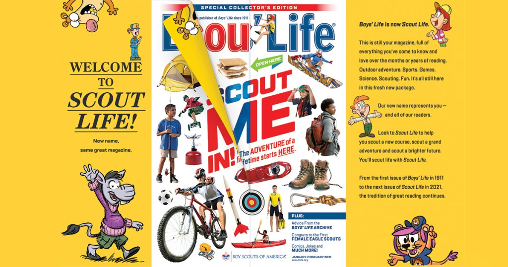Boys' Life is now Scout Life — new name, same great magazine