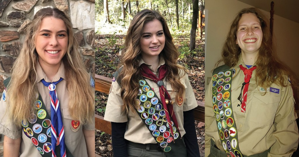 Celebrate the inaugural class of female Eagle Scouts and their journeys