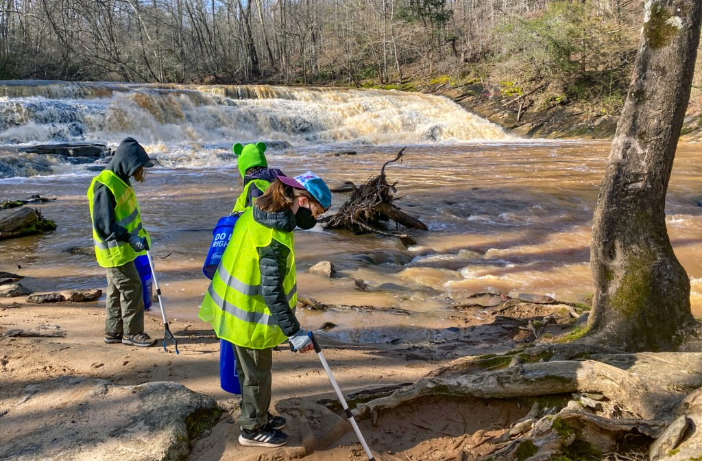 North Carolina Scout troop adopts waterfall, helping every day be Earth Day