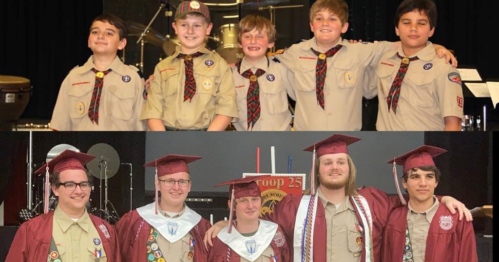 They're now Eagle Scouts, fulfilling a promise they made to each other as Tigers