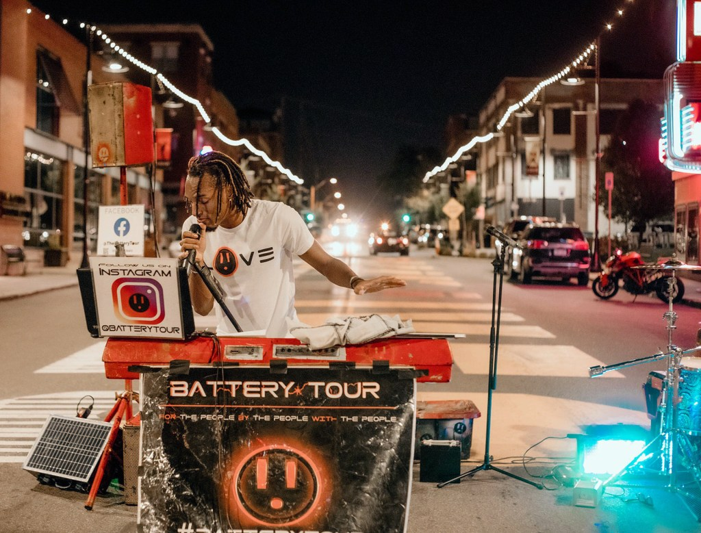Hip-hop artist's Eagle Scout project brings power to the world