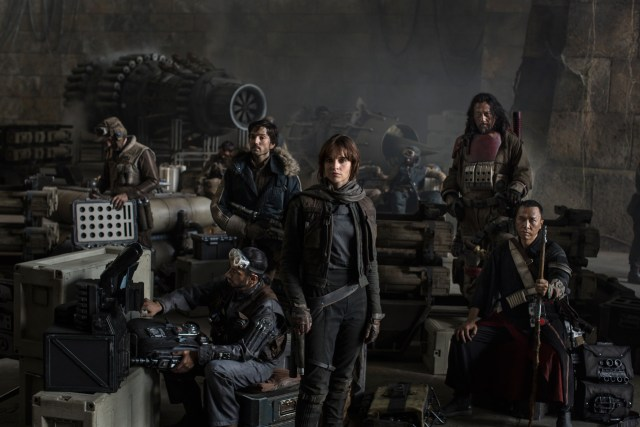 The cast of Rogue One.