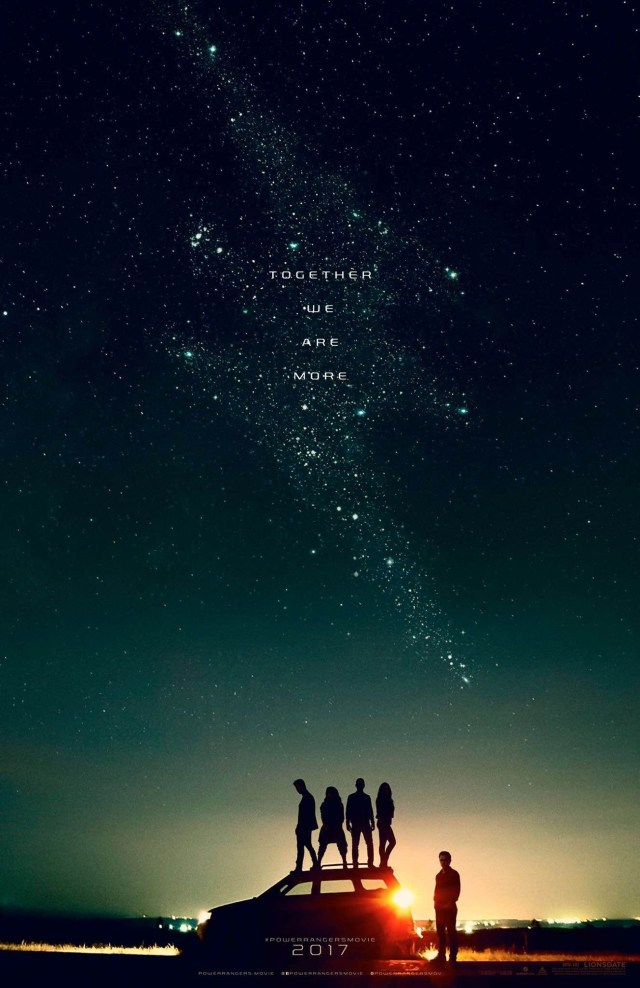 The first poster for Lionsgate/Saban's Power Rangers reboot.