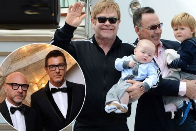 Dolce、Gabbana和Elton John一家(圖片:英國鏡報)