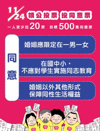 台灣 「愛家公投」傳單