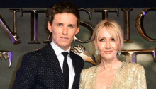 Eddie Redmayne and JK Rowling