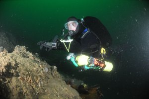 Cillian Gray, 'tec diving'. Photo courtesy of Tom Brett
