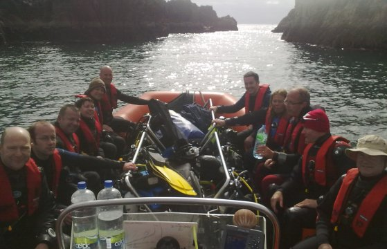 Divers at Friar Island on early June's Adventure Day Trip