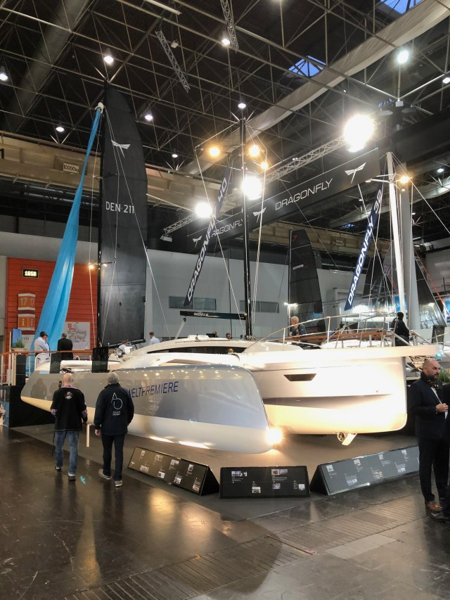 Dragonfly Sailboat with custom SeaDek on display at boot Dusseldorf  2020.