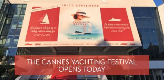The Cannes Yachting Festival Opens today banner