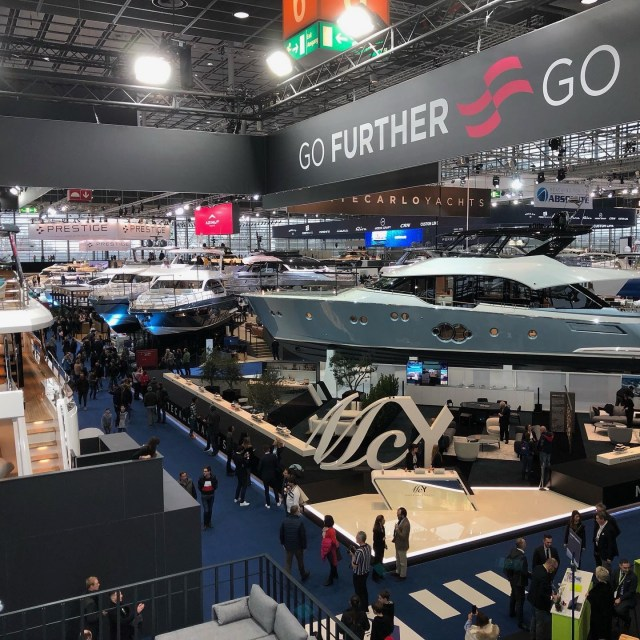 Boats on display at boot Dusseldorf  2020.