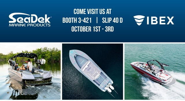 For our 15th year in a row SeaDek will be exhibiting at IBEX, Booth 3-421 and in-water slip #40D