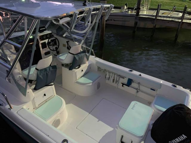 The cockpit and boweith custom SeaDek.