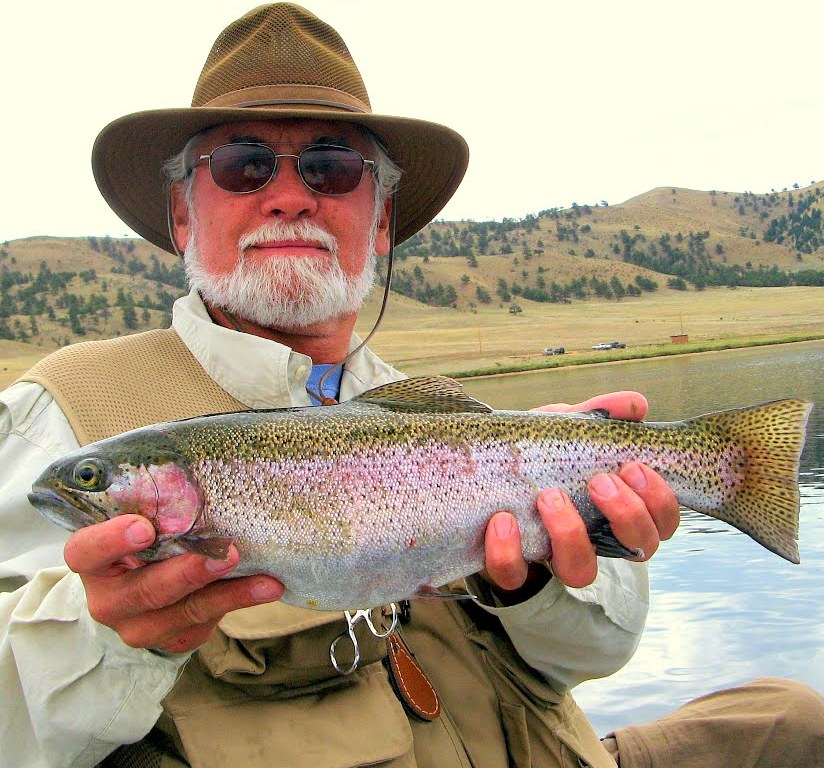 Nick sure bags the big ones like this handsome rainbow trout