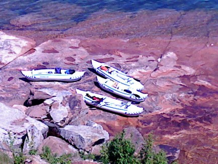 Marge and her friends own 3 sailboats and 4 Sea Eagle Sport Kayaks. The Sea Eagles double as yacht tenders and kayaks for exploring sea caves and shorelines along Lake Superior.