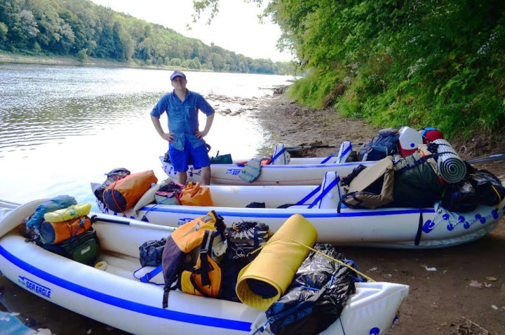 Bobby Weber's been kayaking on the Delaware River for years. He recently took a boating trip with 3 friends, in 3 Sea Eagle Sport Kayaks.