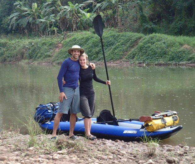 """Yannick Daoudi and his girlfriend, Audrey Mc Mahon, recently traveled 130 miles down the Nam Tha River in Northern Laos in Yannick's Sea Eagle <a href=""""https://www.seaeagle.com/ExplorerKayaks/380x"""" target=""""_blank"""">380x.</a> """"We passed small local villages the entire trip and witnessed the threat to the indigenous way of life in Northern Laos because of damming and mining projects. """""""