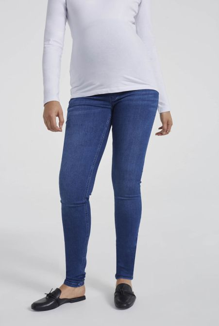 "Tall Maternity Jeans in 34"", 36"" and 38"" Inseam Lengths"