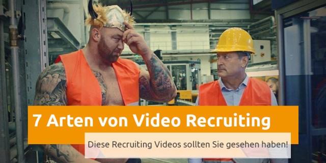 Arten von Recruiting Videos