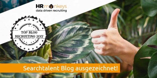 Searchtalent bester Recruiting Blog Auszeichnung