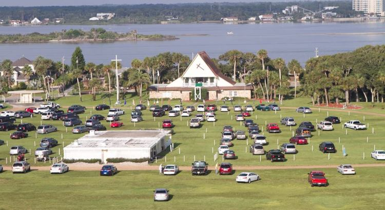 The Drive In Church at Daytona Beach serves tourists and locals..