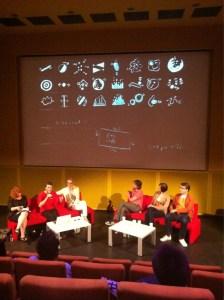 """Conférence autour de l'exposition """"Matt Pyke & Friends"""" © Sébastien Magro"""