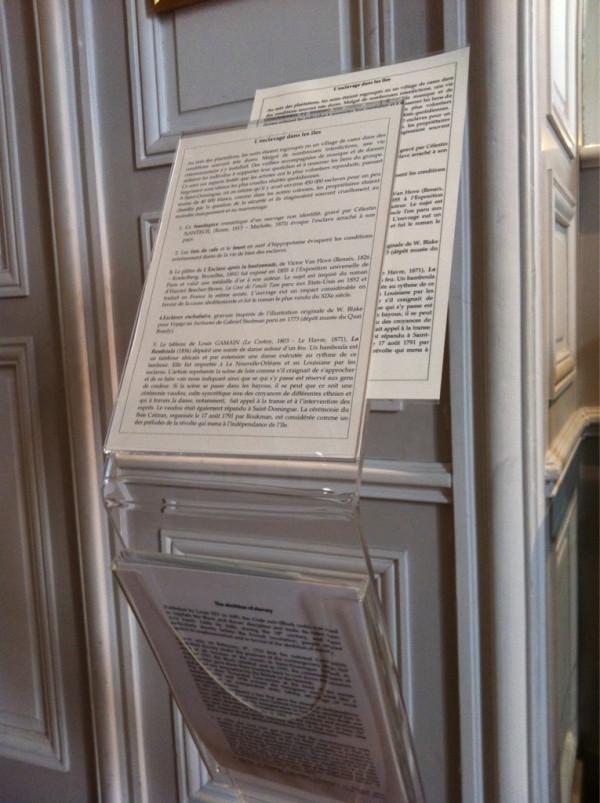 Textes de salle au Musée du Nouveau Monde, La Rochelle © Sébastien Magro